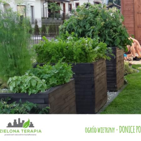 ogród wietrzny donice po 450x450 - Mały ogród przydomowy w Krakowie