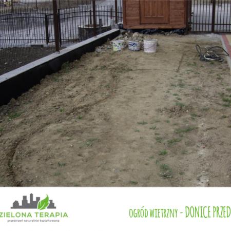 ogród wietrzny donice przed 450x450 - Mały ogród przydomowy w Krakowie