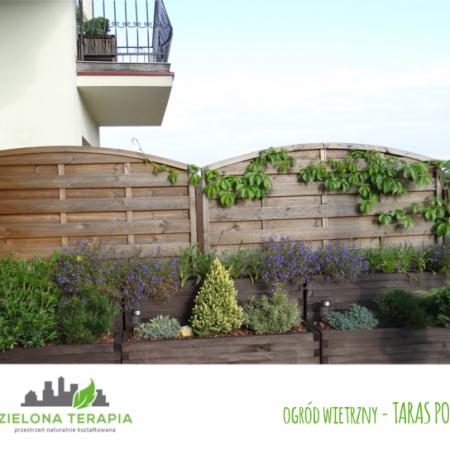 ogród wietrzny taras po 450x450 - Mały ogród przydomowy w Krakowie