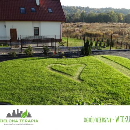 ogród wietrzny w toku 450x450 - Mały ogród przydomowy w Krakowie