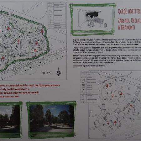 ogrod hortiterapeutyczny Zielona Terapia 450x450 - Ogród hortiterapeutyczny - Zakład Opiekuńczo–Leczniczy w Krakowie