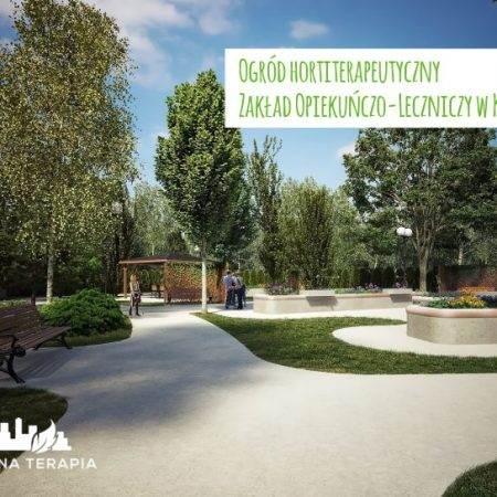 ogrod hortiterapeutyczny Zielona Terapia 2 450x450 - Ogród hortiterapeutyczny - Zakład Opiekuńczo–Leczniczy w Krakowie