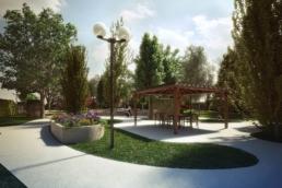 wizualizacja ogród ZOL Kraków