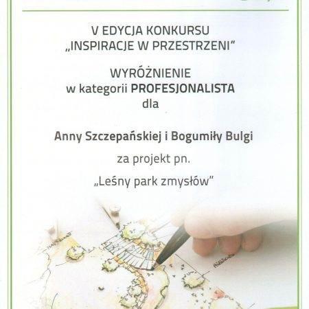 Gardenia 2016 nagroda Zielona Terapia 11 450x450 - Nagroda wyróżnienia za projekt Leśny Park Zmysłów