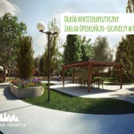 ogrod hortiterapeutyczny Zielona Terapia 4 450x450 - Ogród hortiterapeutyczny - Zakład Opiekuńczo–Leczniczy w Krakowie