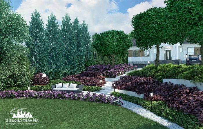 wiz Biskupice 3 700x445 - Ogród w stylu glamour