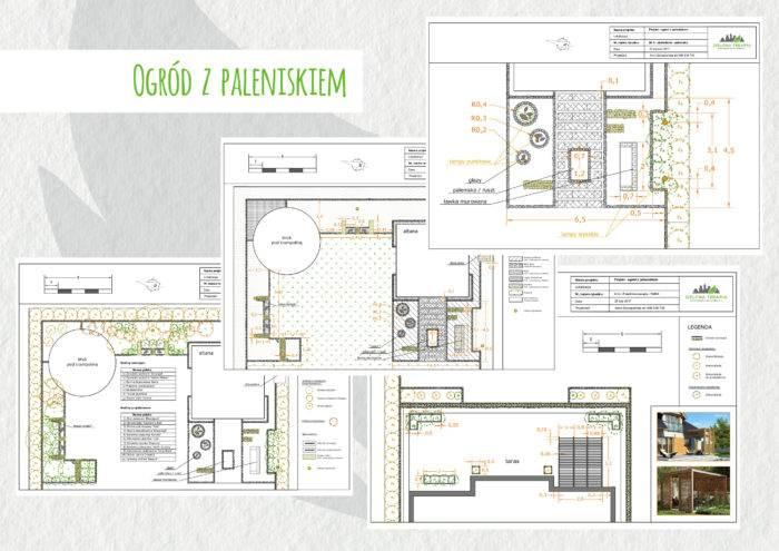 ogrod z paleniskiem 700x495 - Nowoczesny ogród z paleniskiem