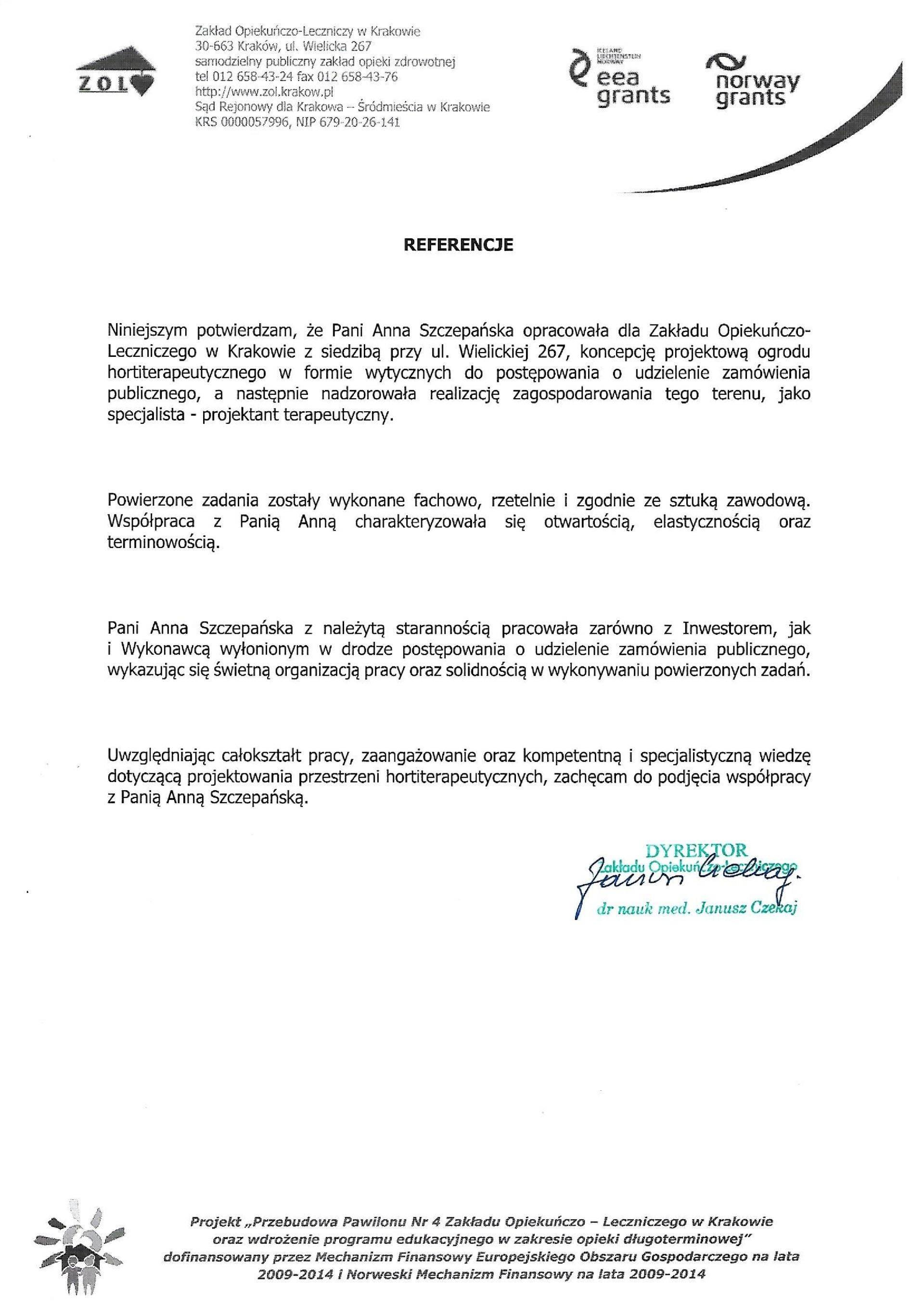ZT referencje16 ZOL KR1 - Referencje ZOL Kraków