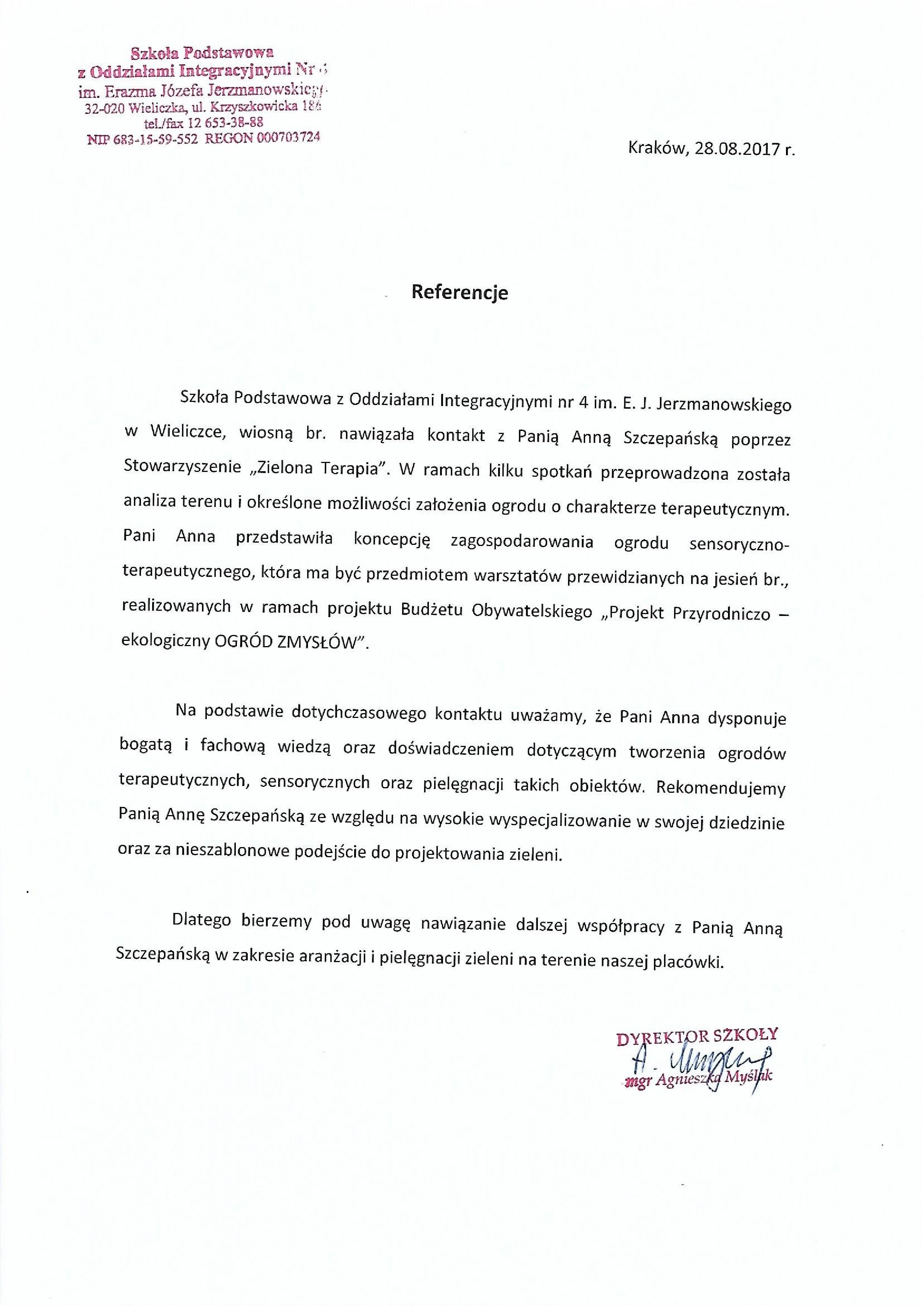 ZT referencje17 Wieliczka1 - Referencje szkoła Wieliczka