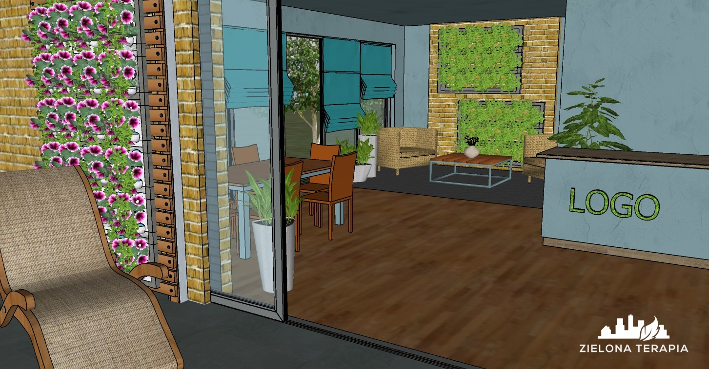 biuro Magda 1 1 - Projekt zieleni biurowej